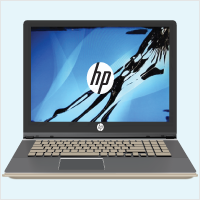 HP Laptop LCD Screen Damage Replacement.