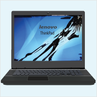 Lenovo ThinkPad Laptop LCD Screen Damage Replacement.