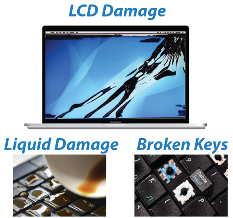MacBook LCD Screen Damage Repair Pro Retina Display Replacement Liquid