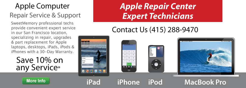 Apple Repair Center - Expert Technicians - iPad iPhone iPod & MacBook Pro Repair