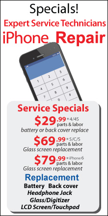 Apple iPhone Repair Service Specials
